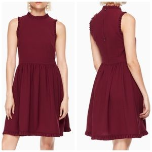NWT Kate Spade Ruffle fit and flare dress